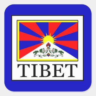 Tibet Fyrkantigt Klistermärke