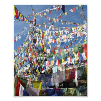 Tibetan bönflaggor fotografiska tryck
