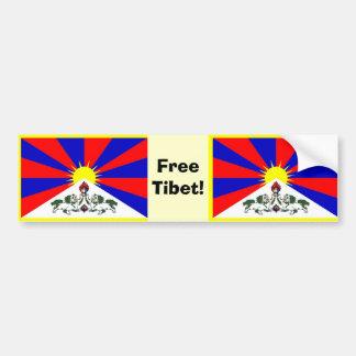 Tibetan flagga - fria Tibet! Bildekal