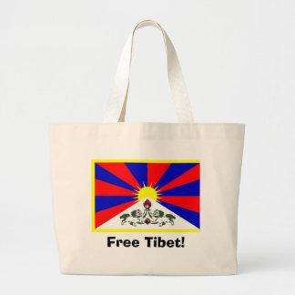 Tibetan flagga - fria Tibet! Jumbo Tygkasse