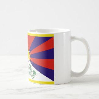 Tibetan fri Tibet flagga - ་ för བཙན för ་ för རང Kaffemugg