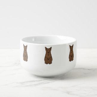 Tibetan katttecknad stor kopp för soppa