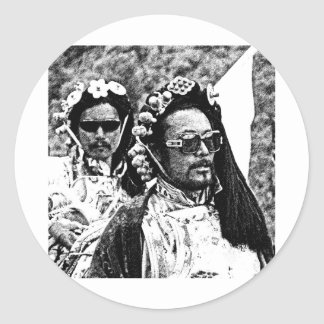 Tibetan manar runt klistermärke