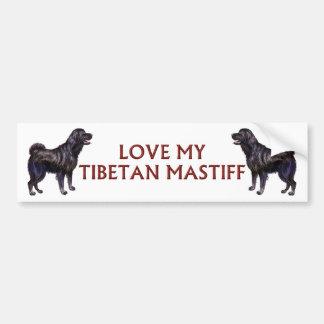 tibetan mastiffkärlek bildekal
