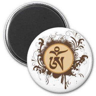 Tibetan Om Magnet Rund 5.7 Cm