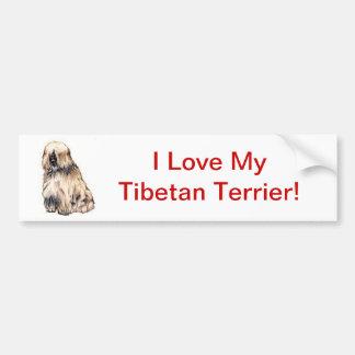 Tibetan Terrier Bildekal