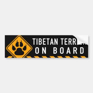 Tibetan Terrier ombord Bildekal