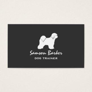 Tibetan TerrierSilhouette Visitkort