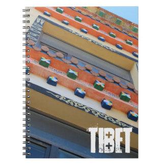 Tibetan traditionell byggnad anteckningsbok med spiral