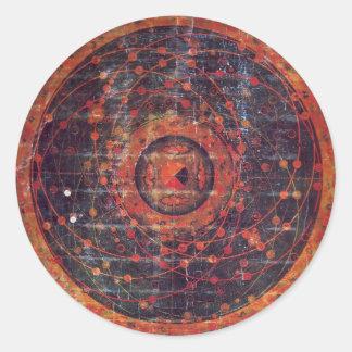 Tibetana astronomical Thangka Runt Klistermärke