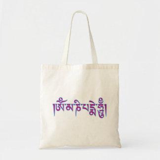 Tibetant mummel för Om Mani Padme skrivar Tygkasse