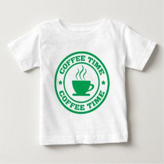 Tid för kaffe A251 cirklar grönt T Shirts