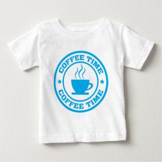 Tid för kaffe A251 cirklar lätt - blått Tee Shirt