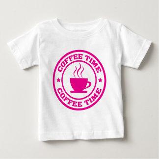 Tid för kaffe A251 cirklar shock rosa T Shirt