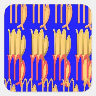 Tider för VÅGGoodLuck n lycklig Fyrkantigt Klistermärke