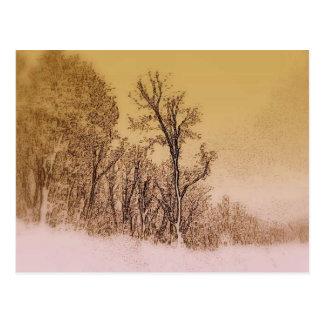 Tidig vinterhorisont vykort