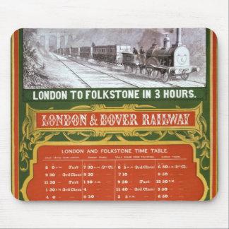 Tidigt schema för London till den Dover järnvägen Musmatta