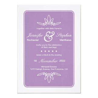 Tidlös berlockbröllopinbjudan - Orchid 12,7 X 17,8 Cm Inbjudningskort
