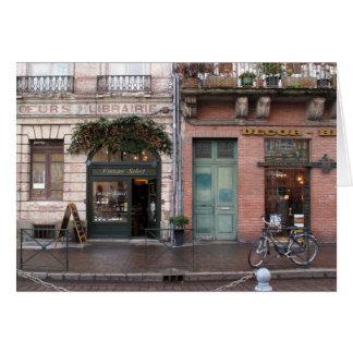 Tidlös fransk vintageplats OBS kort