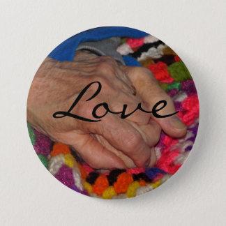 Tidlös kärlek knäppas mellanstor knapp rund 7.6 cm