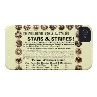 Tidning Philadelphia veckoför 1918 stjärnor & rand iPhone 4 Case-Mate Cases