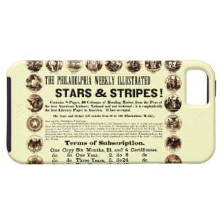 Tidning Philadelphia veckoför 1918 stjärnor & rand iPhone 5 Case-Mate Fodraler