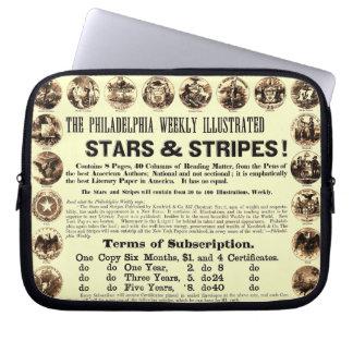 Tidning Philadelphia veckoför 1918 stjärnor & rand Datorfodral