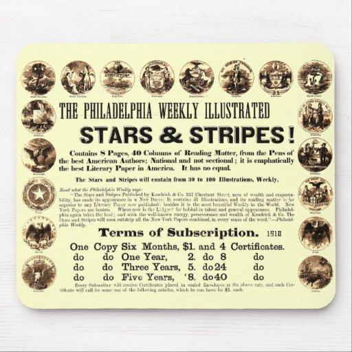 Tidning Philadelphia veckoför 1918 stjärnor & rand Mus Matta
