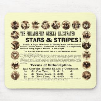 Tidning Philadelphia veckoför 1918 stjärnor & rand Musmatta