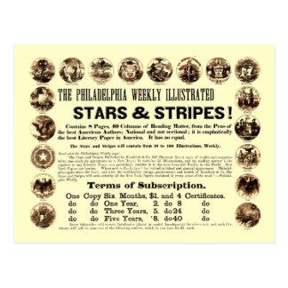 Tidning Philadelphia veckoför 1918 stjärnor & rand Vykort
