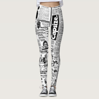 Tidningsdamaskerdesign Leggings
