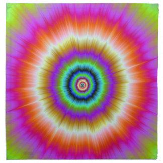Tie-Färg i violetta röda och gröna servetter