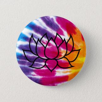 Tie-Färg lotusblommaemblem Standard Knapp Rund 5.7 Cm