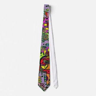 Tie för bylte för lilaabstraktklotter slips