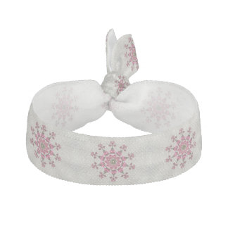 Tie för flickarosa-/vithår hårband