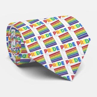Tie för gay pride för skiva för tårta för slips