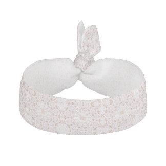 Tie för hår för för flickarosor/vit blom- hårband