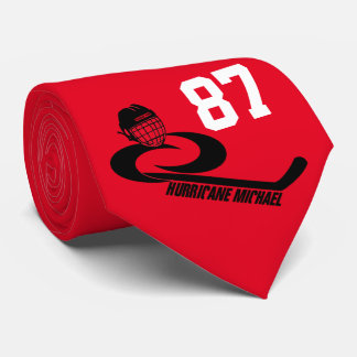 Tie för hockey för lag för orkanMICHAEL anpassade Slips