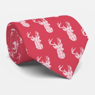 Tie för ren för vinterstickajul slips