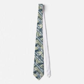 Tie för vintagenotbladmönster slips
