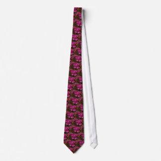 Tie - iceplant purpurfärgad blommar slips