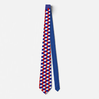 Tie - kvarterillusion i rött, vit och blått slips