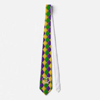 Tie w/Crown för Mardi Gras Harlequindiamant Slips