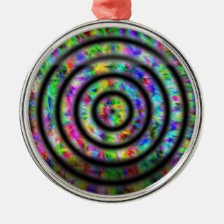 Tiefärg cirklar julgransprydnad metall