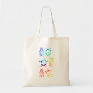 Tiefärg Honu och Tiki maskerar Tote Bags