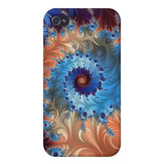 Tiefärgabstrakt virvlar runt - Digital konst iPhone 4 Cover