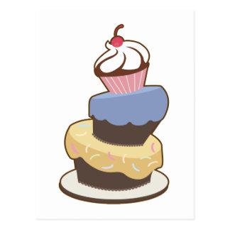 tiered tårta 3 vykort