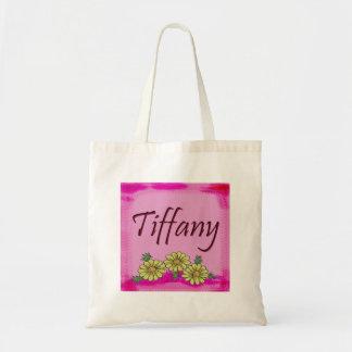 Tiffany daisy tote bags