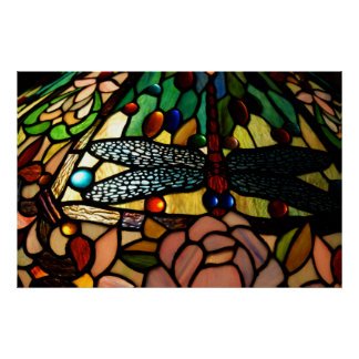 Tiffany upp målat glasslampan skuggar tätt poster