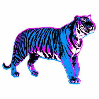 Tiger för blått för Corey tiger80-tal Retro Photo Cutout
